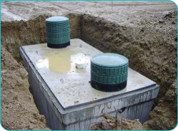 A septic tank
